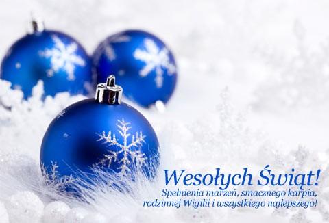 Życzenia świateczno - noworoczne!